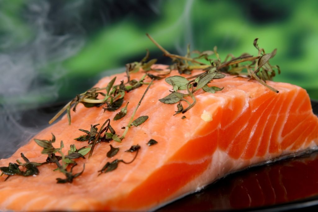 You can find a lot of unsaturated fats in salmon